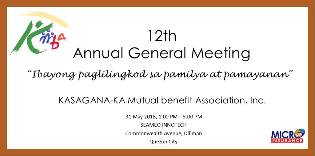 12th agm tarpaulin design
