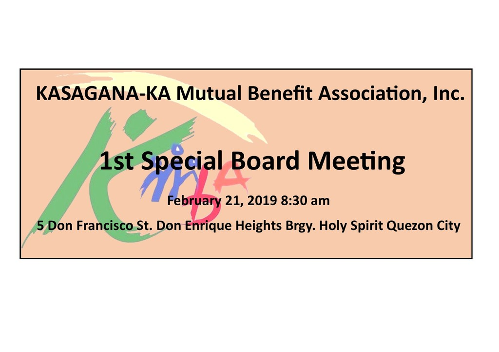 Notice of 1st special board meeting 02.21.2019