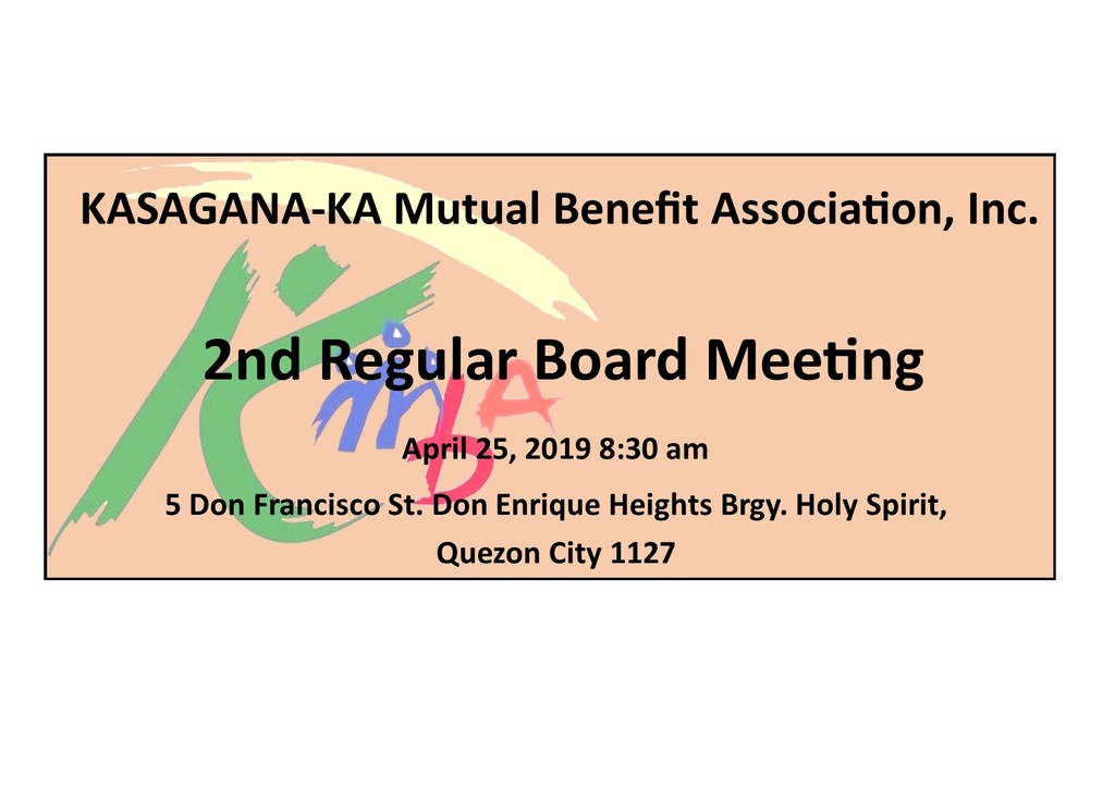 Notice of 2nd regular board meeting  04.25.2019